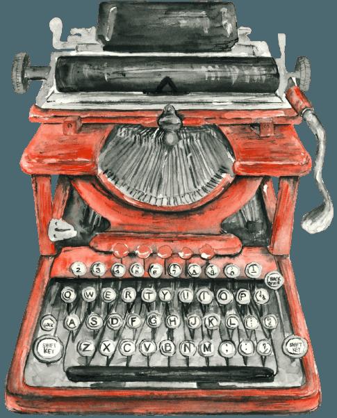 Manuela Vullo, macchina da scrivere